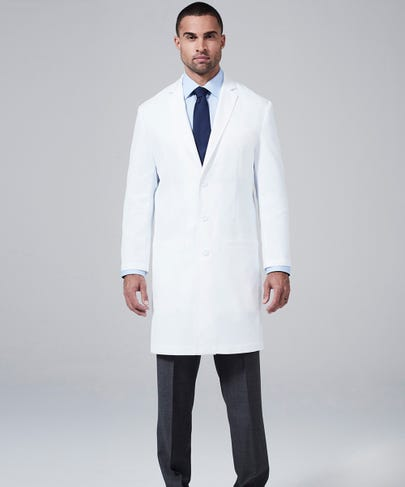 men's slimfit lab coat front
