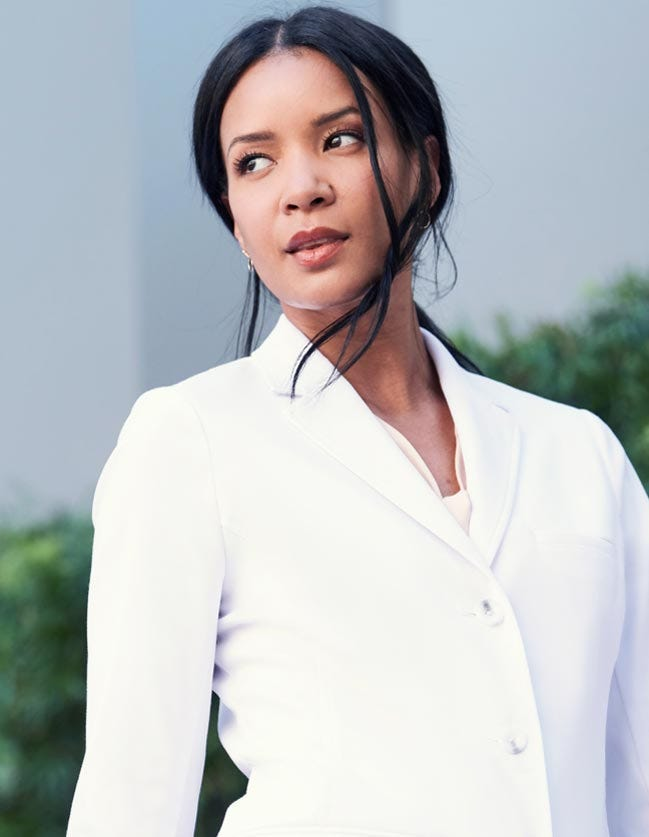 lab coats for women by Medelita